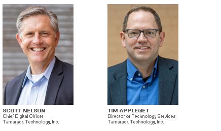 Photos of Scott Nelson and Tim Appleget of Tamarack Technology, Inc.