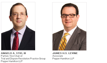 Photos of Angelo A. Stio, III and James H.S. Levine of Pepper Hamilton LLP