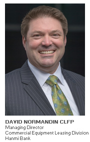 Photo of David Normandin CLFP - Managing Director - Commercial Equipment Leasing Division - Hanmi Bank