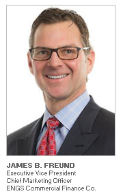 Photo of James B. Freund, Executive Vice President and Chief Marketing Officer of ENGS Commercial Finance Company