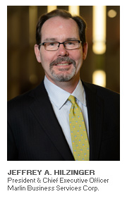 Photo of Jeffrey A. Hilzinger - President & Chief Executive Officer - Marlin Business Services Corp