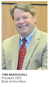 Photo of Tim Marshall - President and CEO - Bank of Ann Arbor