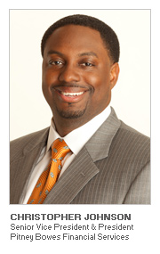 Photo of Christopher Johnson, Senior Vice President and President, Pitney Bowes Financial Services