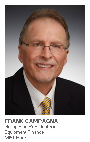 Photo of Frank Campagna - Group Vice President for Equipment Finance - M&T Bank