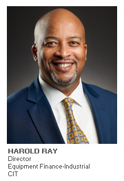 Equipment Finance article with Harold Ray, Director Equipment Finance-Industrial for CIT