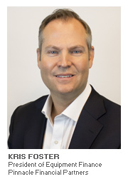 Equipment Finance article with Kris Foster - President of Equipment Finance - Pinnacle Financial Partners