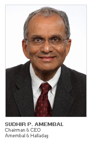 Photo of Sudhir P. Amembal - Chairman & CEO - Amembal & Halladay