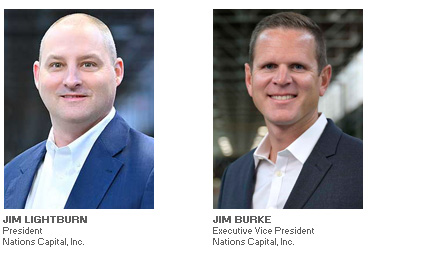 Photos of Jim Lightburn and Kyle Asher of Nations Capital, Inc interviewed by Equipment Finance Advisor